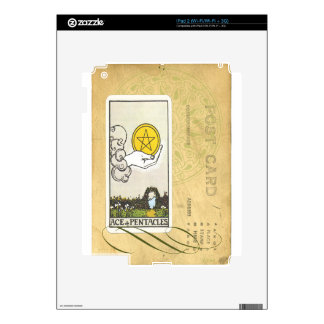Ace Of Pentacles Tarot Postcard Fortune Teller Decal For iPad 2