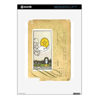 Ace Of Pentacles Tarot Postcard Fortune Teller Decal For iPad 3