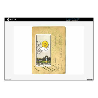 """Ace Of Pentacles Tarot Postcard Fortune Teller Decals For 15"""" Laptops"""