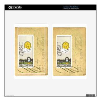 Ace Of Pentacles Tarot Postcard Fortune Teller Kindle Fire Decal
