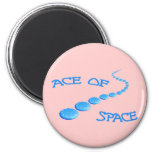 Ace of Space Frisbee 2 Inch Round Magnet