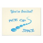 "Ace of Space Frisbee 5"" X 7"" Invitation Card"
