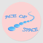 Ace of Space Frisbee Classic Round Sticker