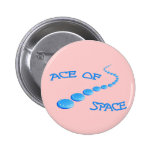 Ace of Space Frisbee Pin