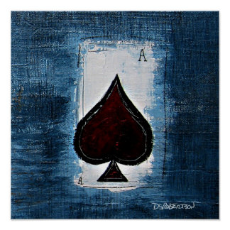 Ace of Spade Man Cave Art Posters
