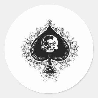 ace_of_spades1 pegatina redonda