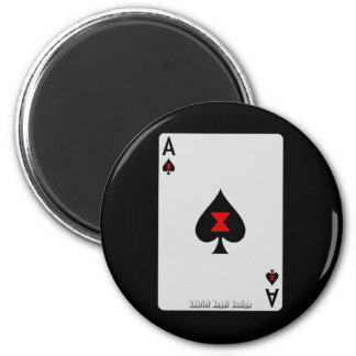 Ace of Spades 2 Inch Round Magnet