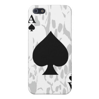 Ace of Spades and Skull iPhone Case Case For iPhone 5