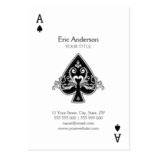 Playing business card templates bizcardstudio ace of spades business card colourmoves