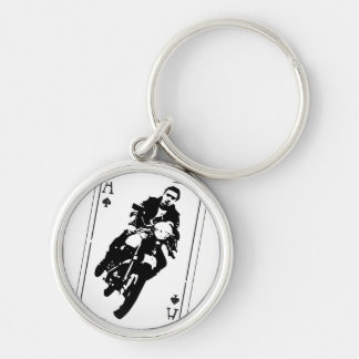 Ace of Spades Cafe Racer Keychain