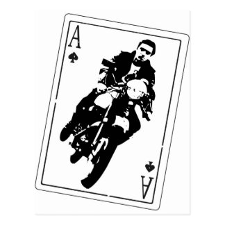 Ace of Spades Cafe Racer Post Card
