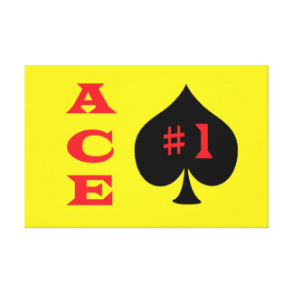 Ace of spades canvas
