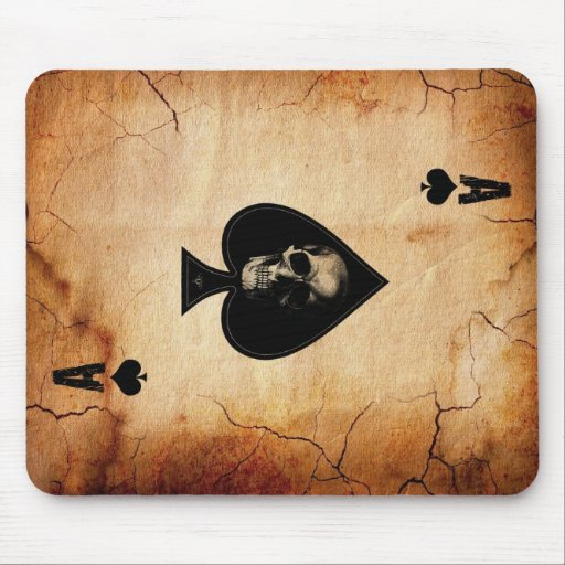 Ace of Spades card Mouse Pad