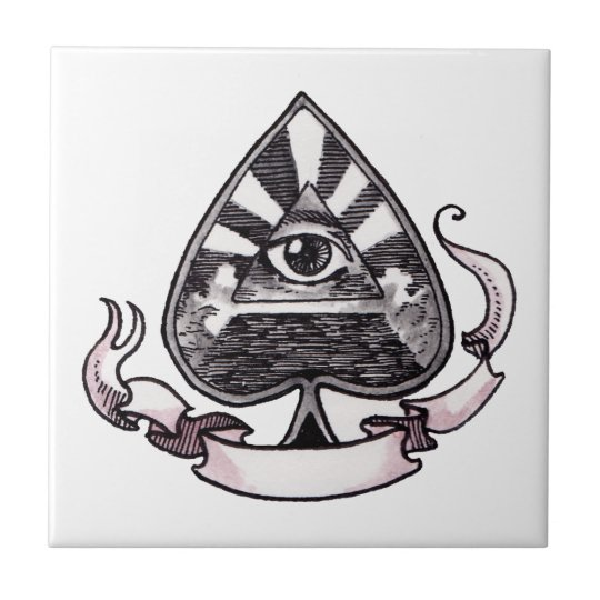 Ace of Spades Ceramic Tile