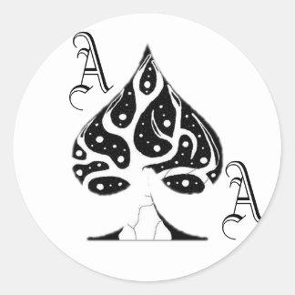 ACE of Spades Classic Round Sticker