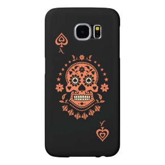 Ace of Spades Day of the Dead Sugar Skull Samsung Galaxy S6 Case