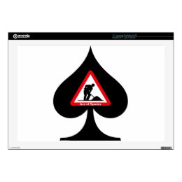 """Ace of Spades Decals For 17"""" Laptops"""