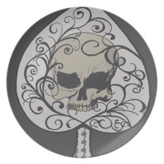 Ace of Spades Decorative Skull Plates
