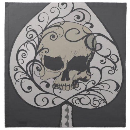 Ace of Spades Decorative Skull Printed Napkins