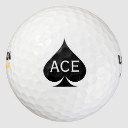 Ace of spades golf balls with custom monogram