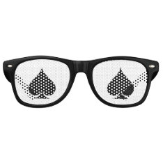Ace Of Spades Halloween Poker Party Shades at Zazzle