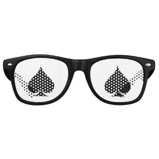Ace of spades Halloween poker party shades