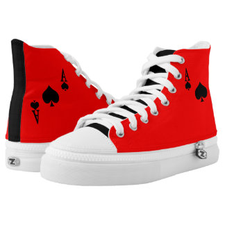 Ace of Spades High-Top Sneakers