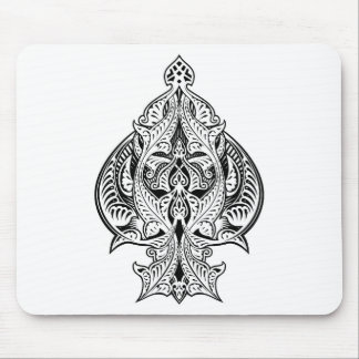 Ace of Spades Icon Shape Abstract Pattern Mouse Pad