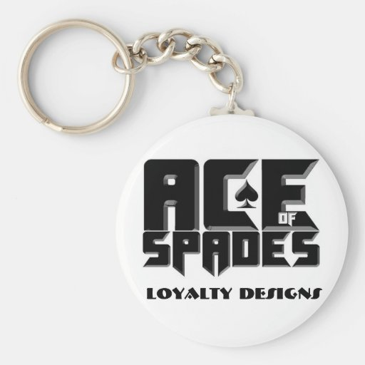 ACE OF SPADES KEYCHAINS