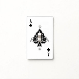 Ace Of Spades Switch Plate Cover