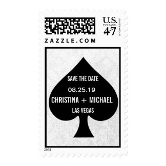 Ace of Spades Modern Chic Save The Date Postage