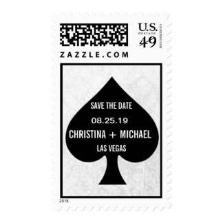 Ace of Spades Modern Chic Save The Date Stamp