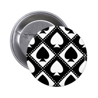 Ace of Spades Motif 2 Inch Round Button
