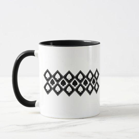 Ace of Spades Motif Mug