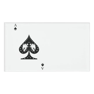Ace of Spades Name Tag