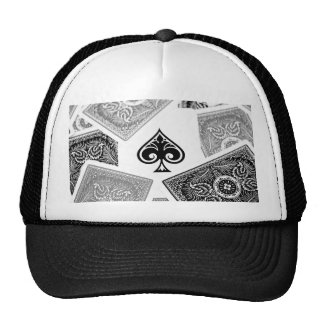 Ace of spades on hat