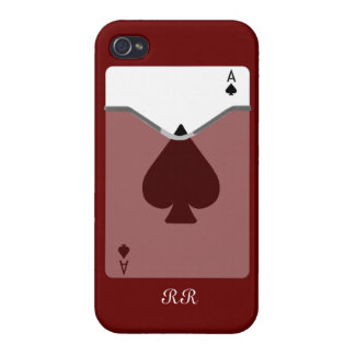 Ace Of Spades On iPhone 4 Case