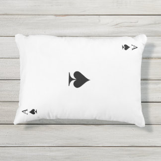 Ace of Spades Outdoor Pillow