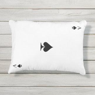 Ace of Spades Outdoor Pillow