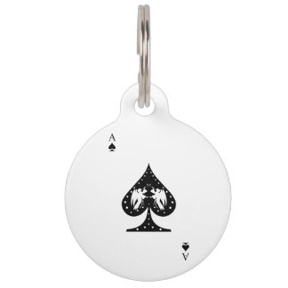 Ace of Spades Pet ID Tag