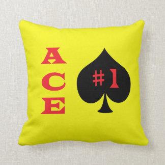 Ace of spades pillows
