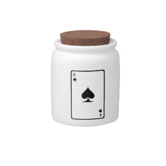 Ace of Spades Playing Card Candy Dishes