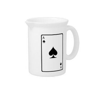 Ace of Spades Playing Card Drink Pitcher
