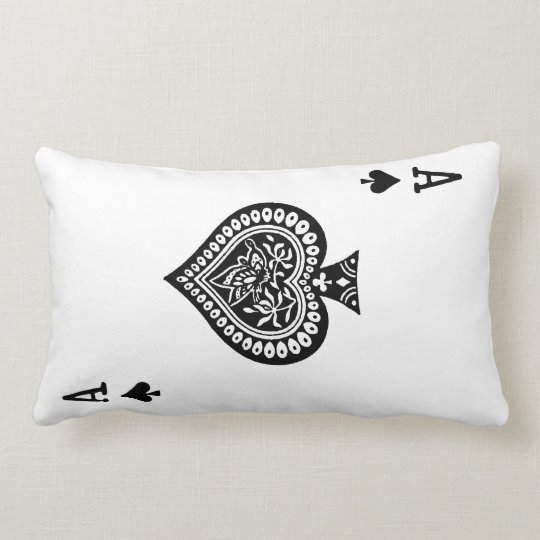 Ace of Spades Playing Card Pillow