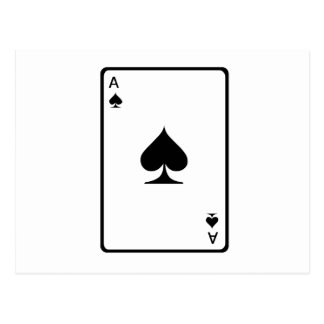 ace of spades card post cards