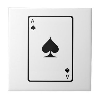 Ace of Spades Playing Card Ceramic Tile