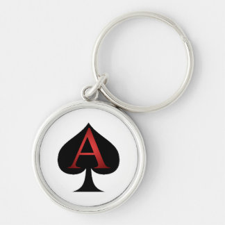 Ace Of Spades Playing Cards Keychain