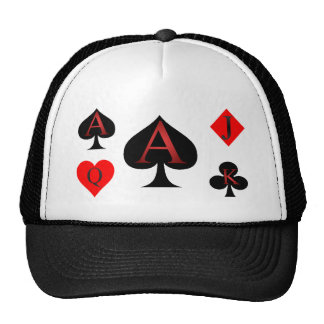 Ace Of Spades Playing Cards Trucker Hat