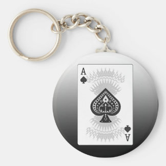 Ace of Spades Poker Card: Keychain