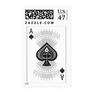 Ace of Spades Poker Card: Postage